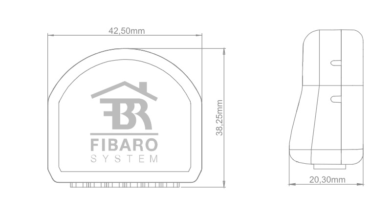 Fibaro Single Switch 2 wymiary
