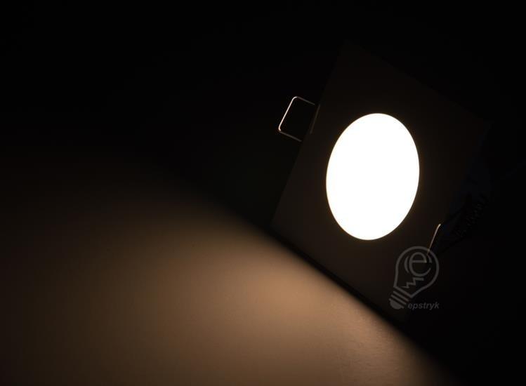 Lampa Oczko Wpuszczane Hermetyczne Do łazienki Ip65 Led 5w Greenlux Bono Ciepła 3000k