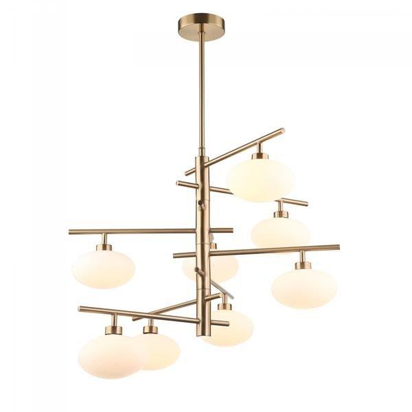Lampa Sufitowa Zyrandol Klasyczny Elegancki Kula Elipsa 8 Zrodel