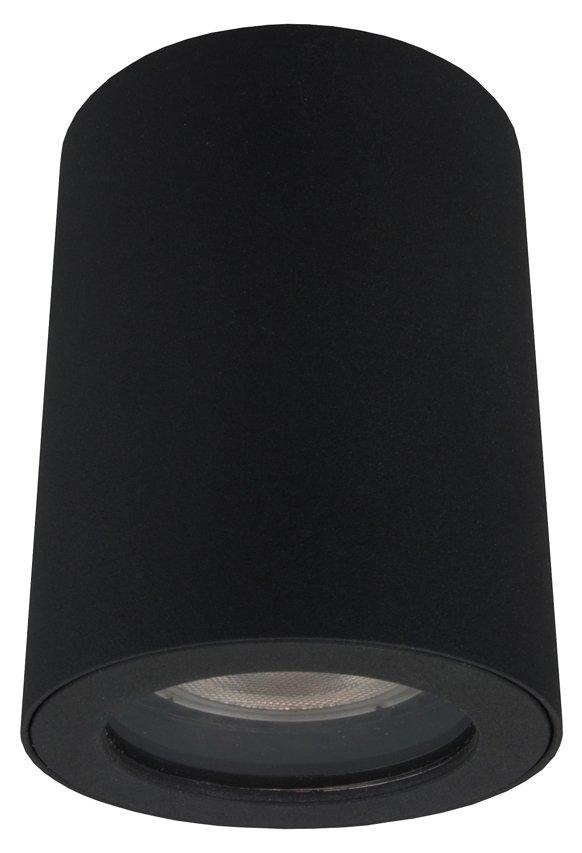 Lampa Tubka Do łazienki Hermetyczna Faro Czarna Ip65